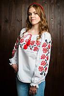 Модная  подростковая вышитая блуза белого цвета