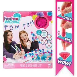 Игровой набор Pom Pom Wow! - ФАНТАЗИЯ (50 помпонов, 5 цветов, аксессуары)  48535-PPW
