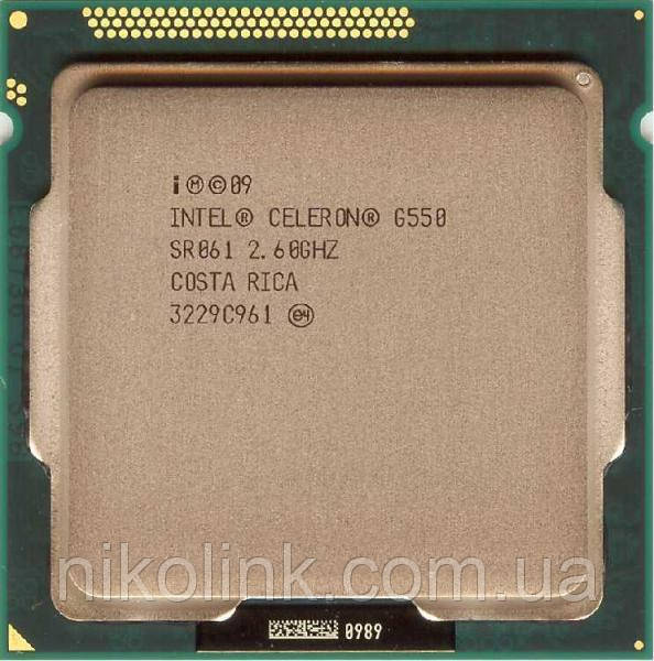 Процессор Intel Celeron Dual Core G550 2.6GHz/5GT/s/2MB  s1155, Tray, Б/У