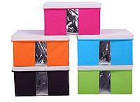 Короб для хранения с крышкой (с окном)