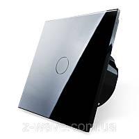 Сенсорный проходной выключатель Livolo 1-канальный, Classic, черный