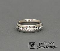 Женское кольцо из стали со стразами Размер 17 (810211)