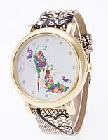 Женские часы Geneva Туфелька из цветов