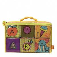 Развивающие мягкие кубики-сортеры ABC (6 кубиков, в сумочке) от Battat - под заказ