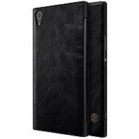 Кожаный чехол (книжка) Nillkin Qin Series для Sony Xperia XA1 Ultra Черный