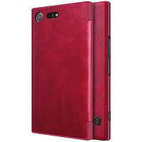 Кожаный чехол (книжка) Nillkin Qin Series для Sony Xperia XZ Premium Красный
