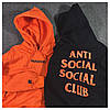 Толстовка с принтом A.S.S.C. Paranoid | Anti Social social club мужская