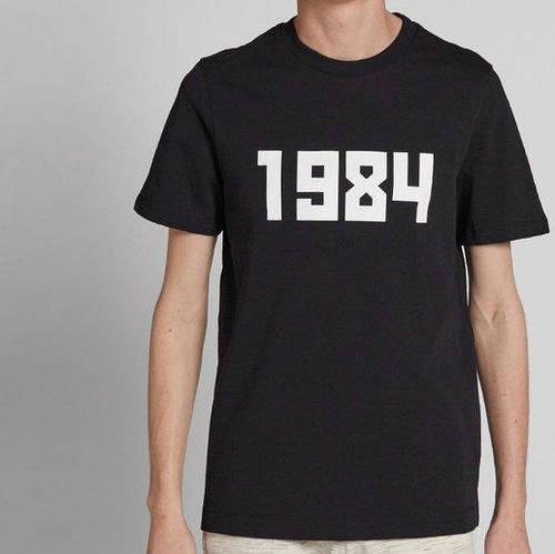Футболка Гоша Рубчинский 1984. Мужская черная