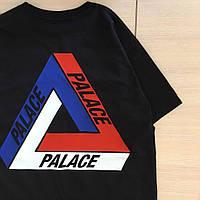 Футболка мужская с принтом Palace tri brit skate, фото 1