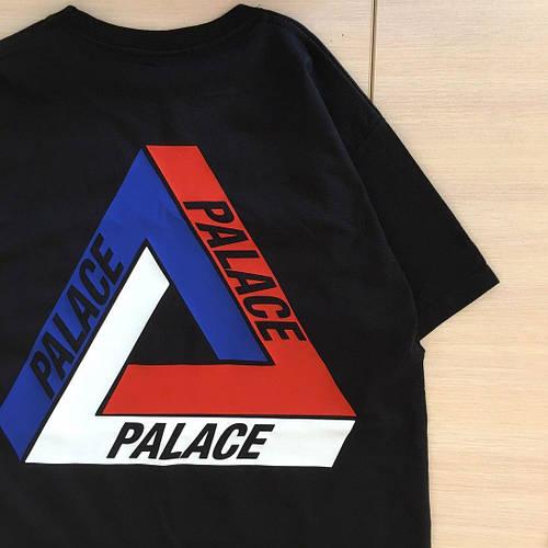 Футболка мужская с принтом Palace tri brit skate