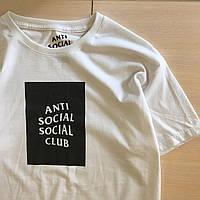 Футболка A.S.S.C. Белая Anti Social social club бирка, фото 1