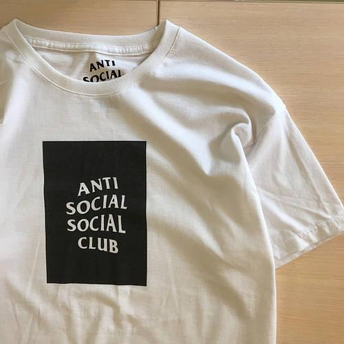 Футболка A.S.S.C. Белая Anti Social social club бирка