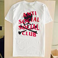 Футболка ASSC Mastermind белая | Бирка Anti Social social club