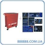 Набор инструментов 259ед EVO+Тележка ящик-тумба на колесах 934-018MRVD-LD King Tony