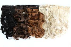 Чудо-прядь накладная на клипсах из искусственных вьющихся волос