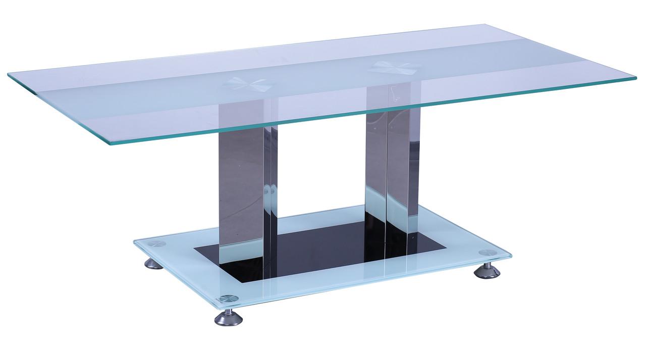 Стол журнальный Адажио CT003 закаленное стекло.