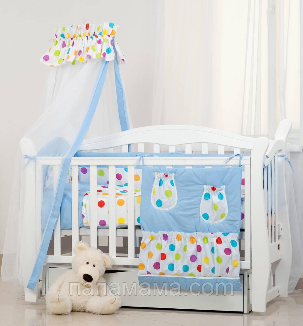 Постельное белье для детской кроватки Twins Comfort Цветные горошки