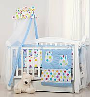 Постельное белье для детской кроватки Twins Comfort Цветные горошки, фото 1