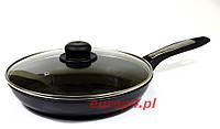 Сковорода чугунная с крышкой 24 см индукция 209 Frico