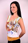 Женская майка трикотажная двойная белая Прованс  , Бл 009000-1 , фото 2