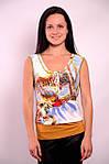 Женская майка трикотажная в цветочек Прованс  , Бл 009000, фото 6