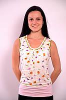 Женская майка трикотажная в цветочек Прованс  , Бл 009000