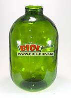 Бутылка (бутыль) 10л стеклянная зеленая под крышку СКО 1-82