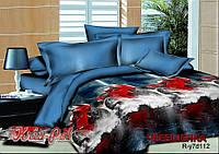 Полуторный набор постельного белья 150*220 из Ранфорса Мотоциклы №17112 KRISPOL™