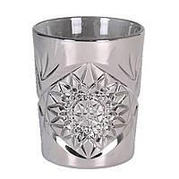 Стакан для напитков 350 мл. низкий, стеклянный серебристый Hobstar Silver DOF, Libbey