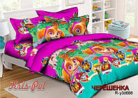 Полуторный набор постельного белья Ранфорс Щенячий патруль №18688 KRISPOL™