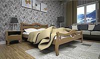 Деревяная кровать Корона