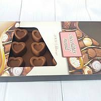Силиконовая форма для шоколада в коробке Сердечки