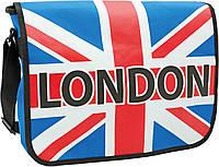 """Сумка молодежная 551861 """"England"""", 35*10*27см """"1 Вересня"""", """" YES"""""""