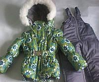 Детский зимний комбинезон-тройка  для девочек 1-5 лет S475