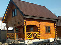 Дом деревянный из профилированного бруса (площадь 96 м.кв.)