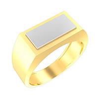 Печатка из желтого и белого золота.