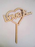 """Верхушки для тортов и пирожных, топперы """"Love is..."""""""