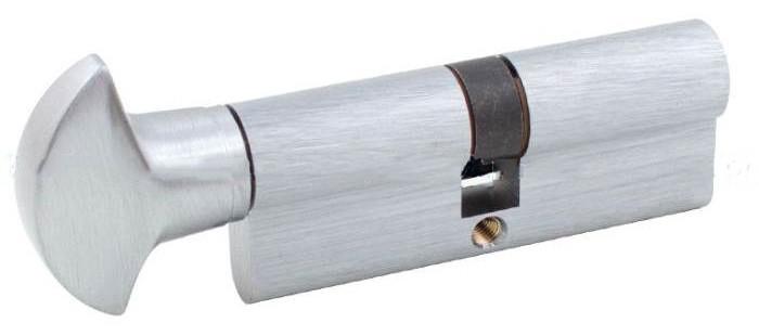 Securemme К2 90мм 50х40 ключ/тумблер матовый хром (Италия)
