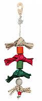 Игрушка Trixie Natural Toy on a Sisal Rope для птиц на сизалевом канате, 38 см