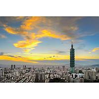 Фотокартина на холсте Тайбей. Тайвань. Финансовый центр