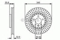 Тормозной диск передний Volksvagen Transporter T5(2003-) Bosch(0986479546)