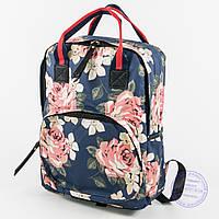 Сумка-рюкзак для школы и прогулок - синий - 9015
