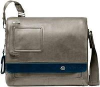 """Мужская наплечная сумка с отделением для ноутбука 13"""" Piquadro Vibe/Grey-Blue, CA2076VI_GRB серый"""