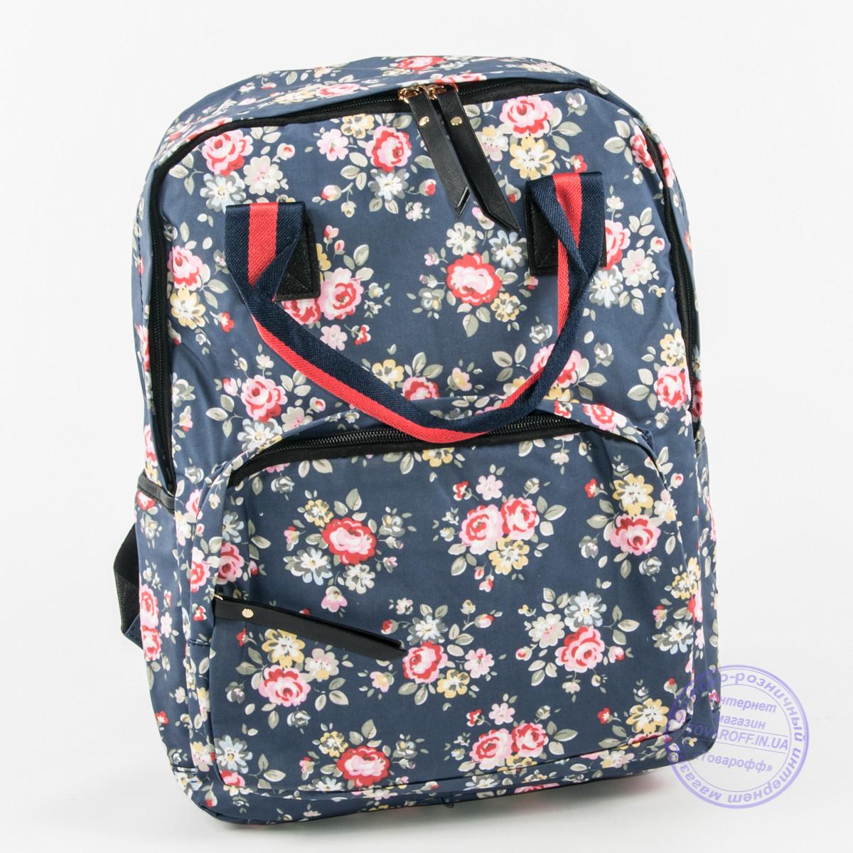 71f988be0710 Сумка-рюкзак для школы и прогулок цветочный - синий - 9015: заказ ...