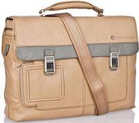 Кожаный портфель Piquadro CA1044VI_SAVE бежевый