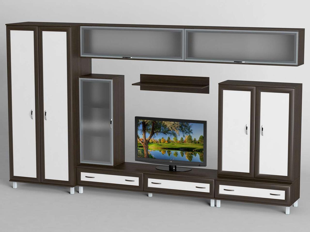 Вітальня стінка з ДСП/МДФ (гостиная стенка) - 8 Тіса меблі