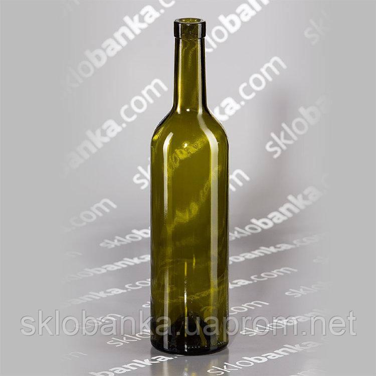 Бутылка винная Bordo 0,75 л оливковая 20 шт