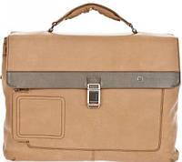 Кожаный портфель Piquadro CA1045VI_SAVE бежевый