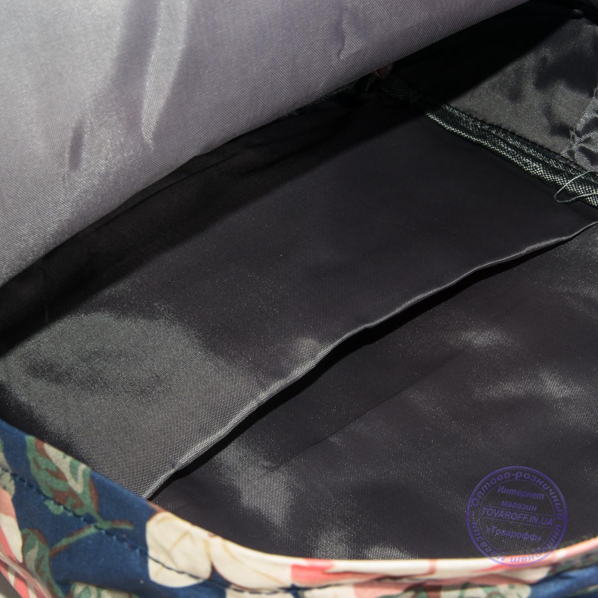 23181e4eb69f ... Сумка-рюкзак для школы и прогулок с цветами - черный - 9015, фото 6
