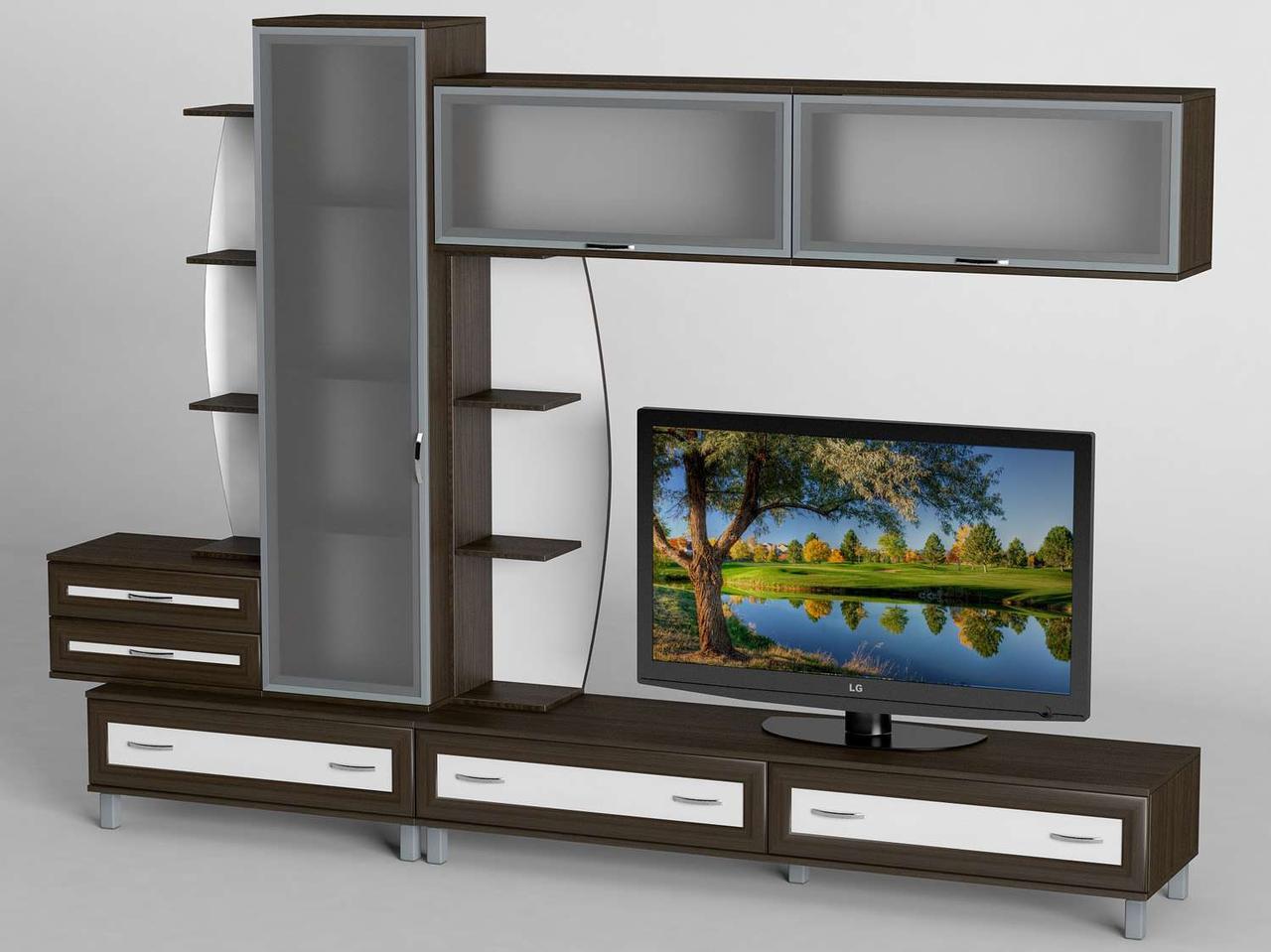 Вітальня стінка з ДСП/МДФ (гостиная стенка) - 16 Тіса меблі